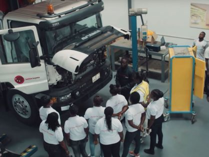 Scania trains women to drive trucks and buses in Accra
